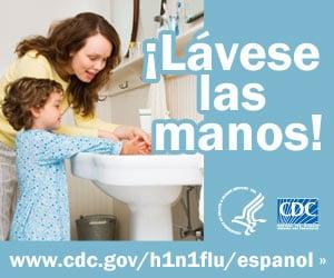 Muéstrele a su hijo cómo lavarse las manos. Para obtener más información consulte www.cdc.gov/h1n1flu/espanol/