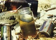 Fotografía de agua estancada en un recipiente