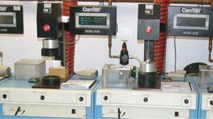 Equipos de laboratorios que se usan en los laboratorios de certificación de NIOSH.