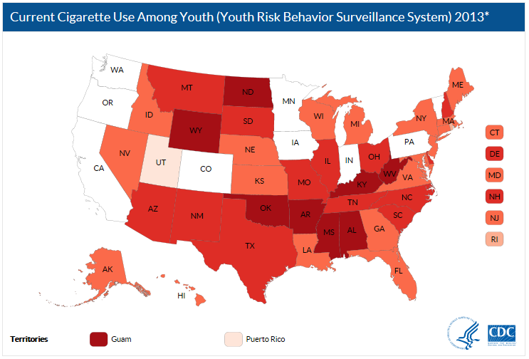 Current Cigarette Use Among Youth Interactive Map