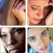 Montage of women. PID can lead to serious consequences including infertility.