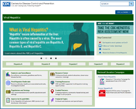 Screen capture CDC's Viral Hepatitis Web Site
