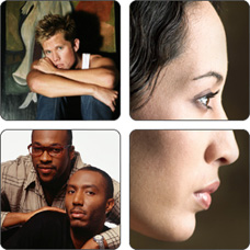 Collage of people. Having an STD can make you more likely to get HIV.