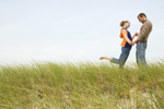 couple in grassy field