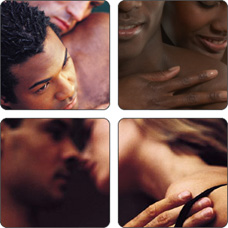 Collage of intimate couples. STDs are Sexually Transmitted Diseases.