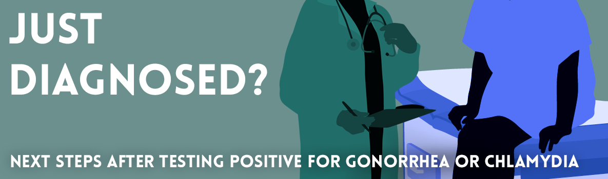 Just Diagnosed? Next steps after testing positive for gonorrhea or chlamydia.