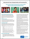 STDs Teens and Young Adults Fact Sheet