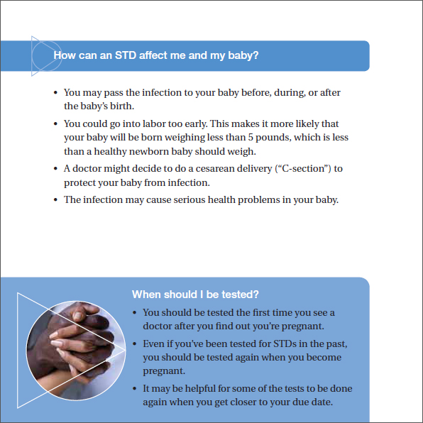 STDs and Pregnancy - The Facts Brochure page 5