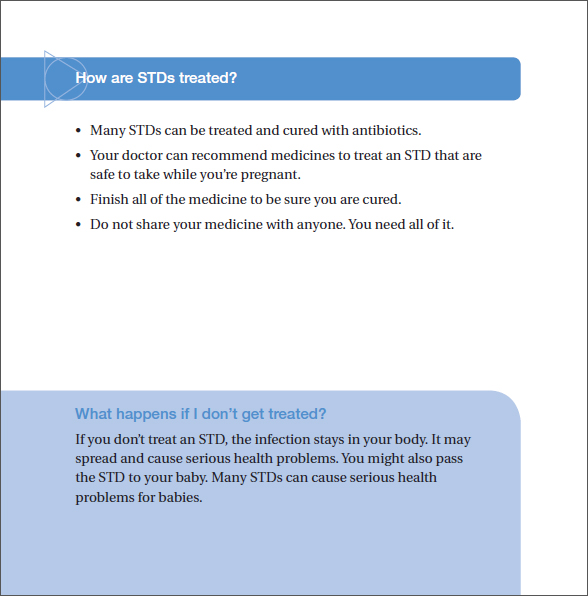 STDs and Pregnancy - The Facts Brochure page 7