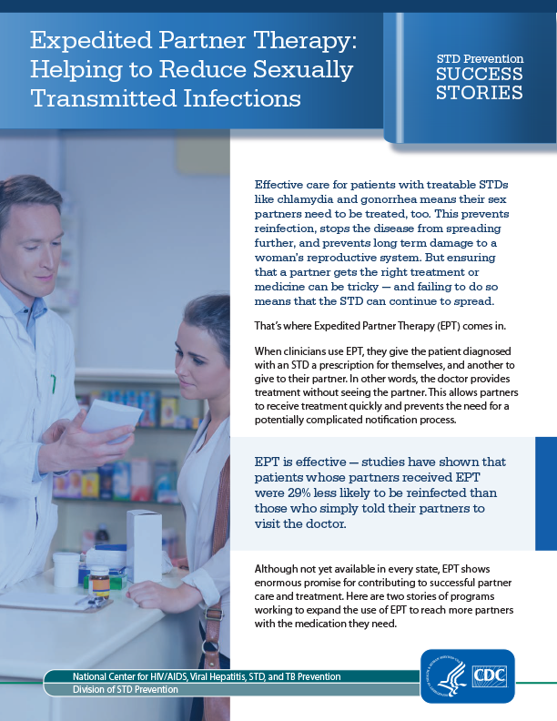 Expedited Partner Therapy: Helping to Reduce Sexually Transmitted Infections