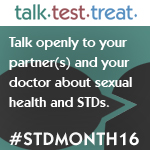 Banner for STD Awareness Month 2016