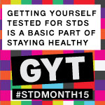 Button for STD Awareness Month 2015