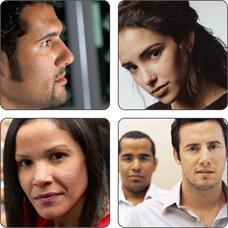 Un collage de personas.