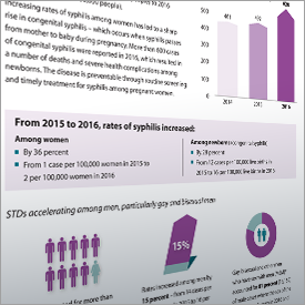 Fact Sheet summarizing highlights of national STD trends.