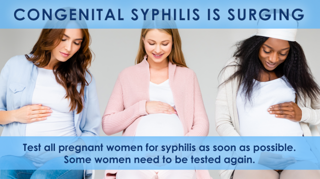 social media 'syphilis is surging for pregnant women' graphic