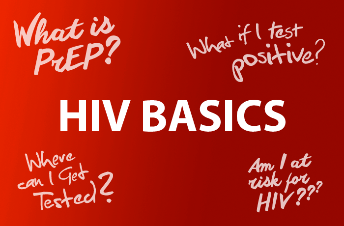 Learn the Basics About HIV. What is PrEP? What if I test positive? How many people are living with HIV? Where can I get tested? Am I at risk for HIV?