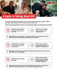 A Guide to Talking About HIV brochure thumbnail