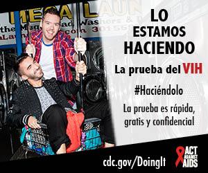 Lo estamos haciendo. La prueba del VIH. La prueba es rápida, gratis y confidencial.  cdc.gov/Haciendolo #Haciéndolo HHS, CDC, Actúa contra el SIDA