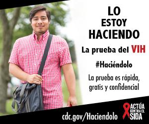 Lo estoy haciendo. La prueba del VIH. La prueba es rápida, gratis, y confidencial. cdc.gov/Haciendolo #Haciéndolo Act Against AIDS