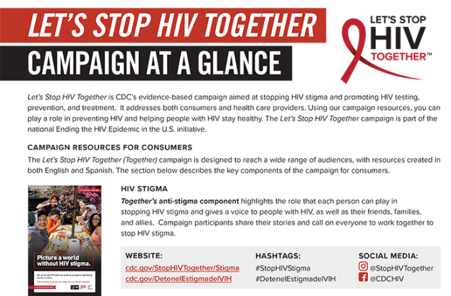 Let's Stop HIV Together Campaign At a Glance
