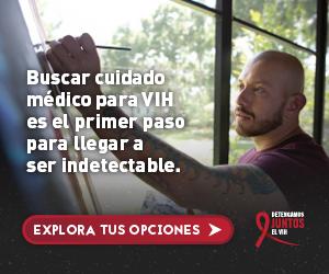 Web banner de la campaña Juntos de Andres, un un hombre Latino pintando. Busca y mantente en cuidado médico.
