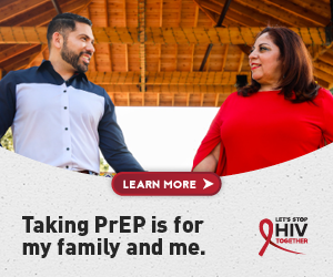 Talking PrEP is more my family and me. Let's Stop HIV Together.