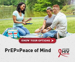 PrEP equals peace of mind. Let's Stop HIV Together.