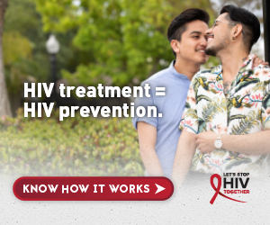 HIV treatment equals HIV prevention. Let's Stop HIV Together.
