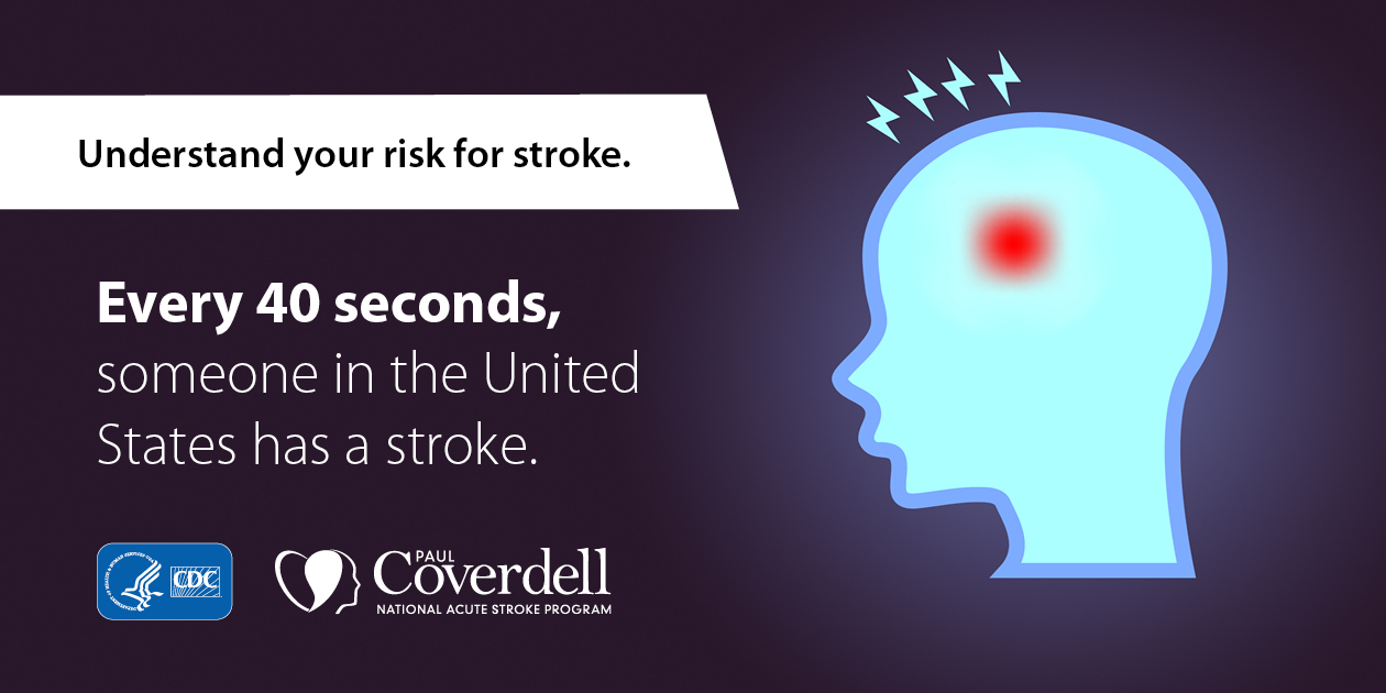 Understand your risk for stroke. Every 40 seconds, someone in the United States has a stroke.
