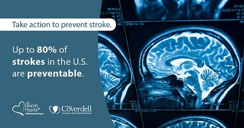 Up to 80% of strokes in the US are preventable.