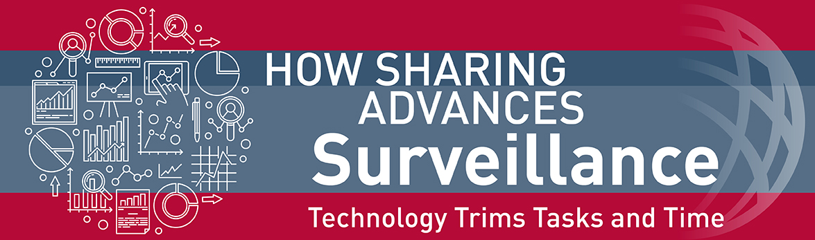How sharing advances surveillance, technology trims tasks and time