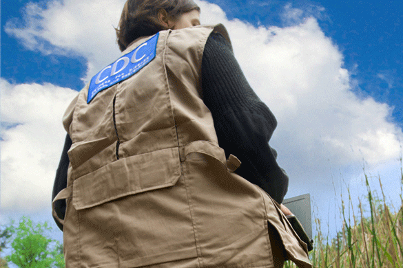 A CDC EIS officer working in the field