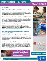 TB and HIV/AIDS Fact Sheets PDF file