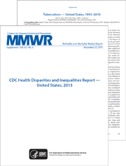 CDC Health Disparities and Inequalities Report – United States, 2013