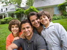 image of family in front yard