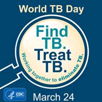 CDC World TB Day Web Graphic Blue Background