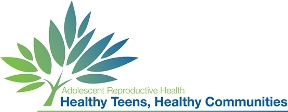 adolescent reproductive health logo: Healthy teens, healthy community