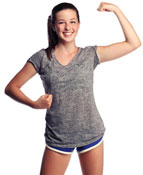 image of a girl flexing her arm muscle