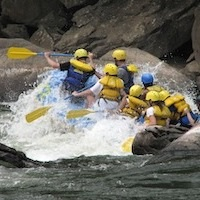 White water rafting in West Virginia