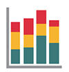 Icon image of a bar chart