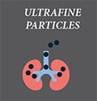 Icon with label: Ultrafine particles