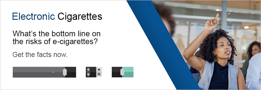 Electronic Cigarettes - What's the bottom line on the risks of e-cigarettes?  You're questions answered
