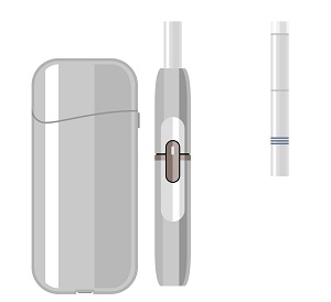 Cigarette-like, carbon tipped wrapped in glass, tobacco capsule, and liquid heating devices are examples of heated tobacco products