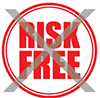 No-risk-free sign image