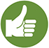 Thumbs up symbol icon