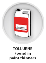 Toluene found in paint thinners
