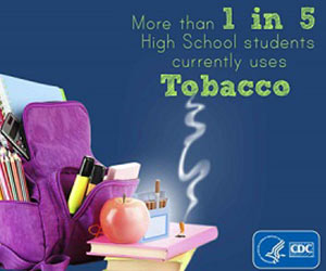 More than 1 in 5 high school students currentlu uses tobacco