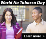 World No Tobacco Day. Learn more…