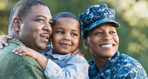 Service member and family