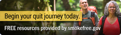 Today I start my quit journey. Free resources provided by smokefree.gov